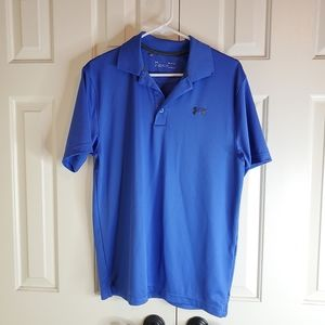 Under Armour Mens Royal Polo Loose Shirt Heatgear